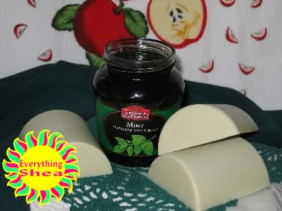 apple-mint glycerin shea butter soap at Everything Shea Aromatic Creations