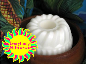 coconut mini soapcake at Everything Shea Aromatic Creations