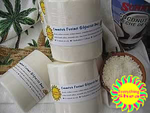 coconut fusion glycerin shea butter soap at Everything Shea Aromatic Creations