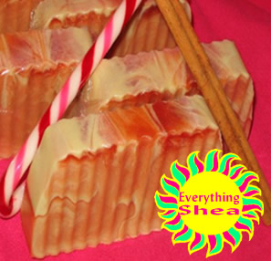 ed's cinnamint ecstasy glycerin shea butter kpangnan soap at Everything Shea Aromatic Creations