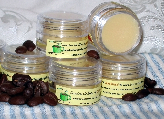 luxurious shea butter lip balms at Everything Shea Aromatic Creations