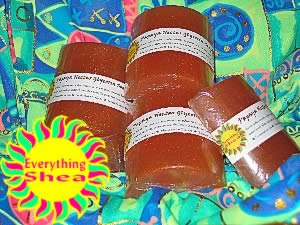 papaya nectar glycerin shea butter soap at Everything Shea Aromatic Creations