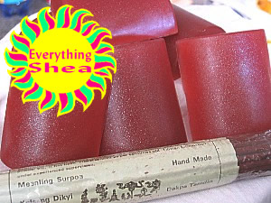 sandalwood glycerin soap at Everything Shea Aromatic Creations