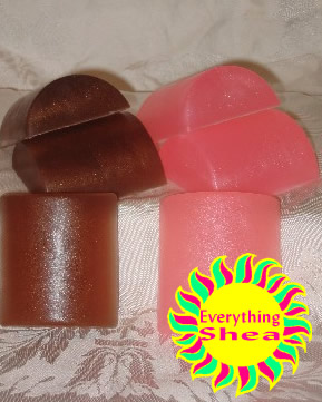 sandalwood-vanilla glycerin shea butter soap at Everything Shea Aromatic Creations