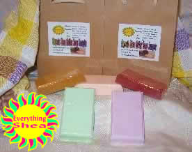 glycerin shea butter soap sampler at Everything Shea Aromatic Creations