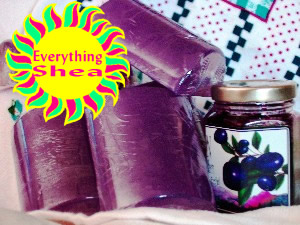 very berry huckleberry glycerin shea butter soap at Everything Shea Aromatic Creations